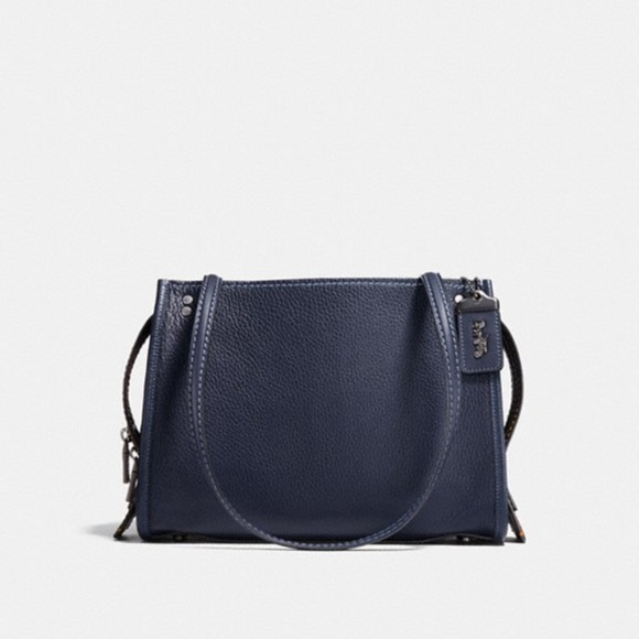 24d3ca2f6e Coach 1941 Rogue Shoulder Bag Midnight Navy 28484